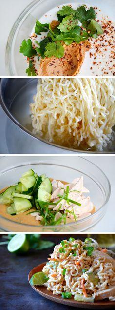 Thai Chicken Pasta Salad #recipe
