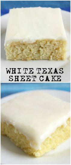 White Texas Sheet Cake The Killer Recipes White Sheet Cakes, White Texas Sheet Cake, Texas Sheet Cakes, Texas Cake, White Cakes, Food Cakes, Cupcake Cakes, Cupcakes, Desserts