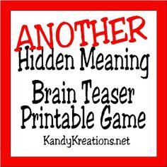 Brain Teasers are a great way to challenge the brain and have a little fun. Check out this printable brain teaser game with the answers that you an play at your Divergent party or anytime you need a little brain stretch. Word Brain Teasers, Printable Brain Teasers, Best Brain Teasers, Brain Teaser Games, Brain Games, Teaching Schools, Teaching Ideas, Divergent Party, Family Games To Play
