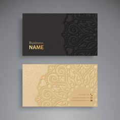 Business card vintage decorative elements Free Vector – UI Kits, Mockup, Logo, Fonts and more free UI&UX Resources~UXLake Professional Business Card Design, Luxury Business Cards, Minimal Business Card, Elegant Business Cards, Free Business Cards, Business Card Logo, Business Design, Identity Card Design, Visiting Card Design