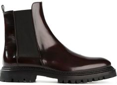 €562, Dunkelrote Chelsea-Stiefel aus Leder von Yang Li. Online-Shop: farfetch.com. Klicken Sie hier für mehr Informationen: https://lookastic.com/women/shop_items/136286/redirect