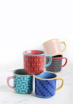 Retro Colors Scandi Mugs from MultipleChoice by topchoice for SillyDesign Poland, unique collection, perfect gift, colourful porcelain, scandinavian mugs, price 10€