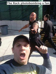I want the rock to photobomb me!!
