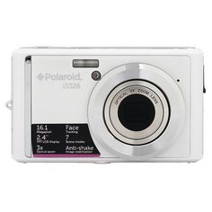 Polaroid 16-Megapixel Ultra Slim 12x Enhanced Optical Zoom Digital Camera with 2.4-Inch LCD Screen, iS326-WHT