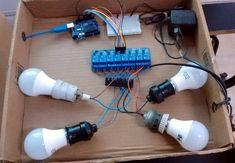 En este ejemplo haremos un sistema de encendido lámparas y equipos eléctricos que funcionan con voltaje de red, y los controlaremos con caracteres enviados por línea serie a través del Monitor Serie del IDE de Arduino Wi Fi, 8 Bits, Pulsar, Control, Arduino, Monitor, Robot, Headphones, Electronics