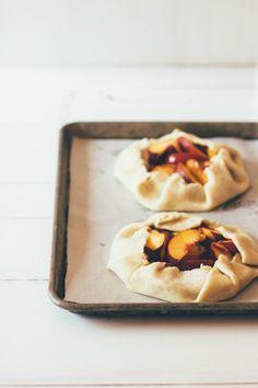 peach galettes | Sarah Kieffer for wit & delight