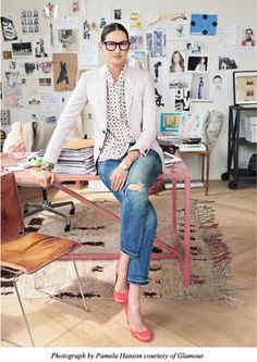 How to dress like J Crew president and creative director Jenna Lyons