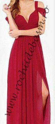 Rochie de seara rosie #rochiideseararosii #rochiidesearafaraaplicatii #redeveningdresses