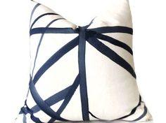 Kelly Wearstler Channels Pillow,Blue Pillow Decorative Pillow Cover, Designer Pillow
