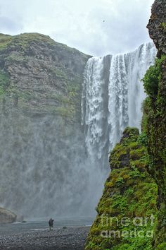 Iceland Skogar Waterfall 06 Photograph