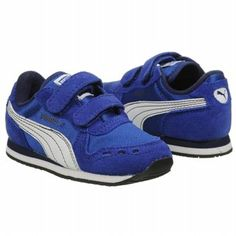 Athletics Puma Kids' Cabana Racer Blue/White FamousFootwear.com