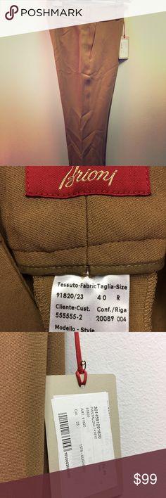 Brioni Modello Style trouser HUGE Discount Retail Price!!! Authentic Brioni Brand New // Sughero color Pants Trousers