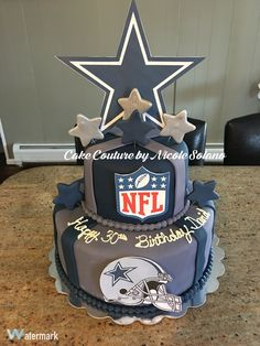 Dallas Cowboys nfl football cake #cakecouturebynicolesolano