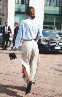 chemise bleu clair pantalon lgant beige femme tendances de la mode 2016 femme