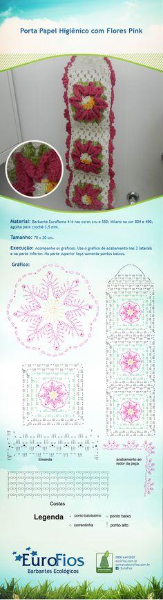 Receita-Porta-Papel-com-flores-pink-eurofios