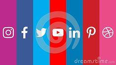 Social Media Icons Facebook Twitter Youtube Instagram Pinterest Dribbble LinkedIn Vector Download #download #logo #upload #svg #eps