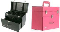 Opi Nail Polish Storage Box Black And Pink Holds Polishes Opi Nail Polish, Opi Nails, Nail Art Designs, Diy Makeup Vanity, Makeup Storage, Nail Polish Storage, Nail Time, Easy Arts And Crafts, Tips & Tricks