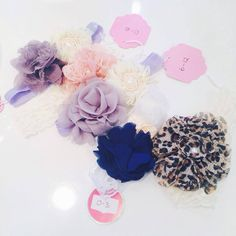 We also have many new beautiful, stretchy, locally handmade headbands for baby girls. Perfect for those first photos and special outings. They're like the cherry on top of a sundae!