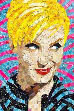 Exclusive Collage Portrait Art Works (8)