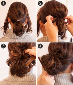 Beautiful Get an elegant, full ponytail even with short hair. The post Get an elegant, full ponytail even with short hair. Insane Looking for some nice and easy ponytail hairstyles idea? We are here with five nice and easy ponytail hairstyles. Ponytails a Side Hairstyles, Holiday Hairstyles, Cute Hairstyles For Short Hair, Wedding Hairstyles, Ponytails For Short Hair, Short Hair Updo Easy, Short Hair Hacks, Easy Updo, Latest Hairstyles