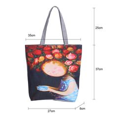 Quality Miyahouse Floral Printed Canvas Tote Female Single Shopping Bags Large Capacity Women Canvas Beach Bags Casual Tote Feminina with free worldwide shipping on AliExpress Mobile Baby Diaper Bags, Types Of Bag, Casual Bags, Tote Purse, Large Bags, Floral Prints, Reusable Tote Bags, Purses, Canvas