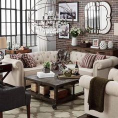 SIGNAL HILLS Knightsbridge Tufted Scroll Arm Chesterfield 5-Seat L-Shaped Sectional Beige Linen