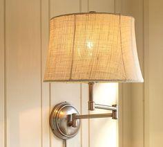 Swell Dwelling: Brass swing-arm lamp re-do