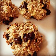 Clean Two Ingredient Cookies. 2 mashed bananas, 1 cup of quick oats (plus optional dark chocolate chips). Bake for 15 minutes at 350F. Done.