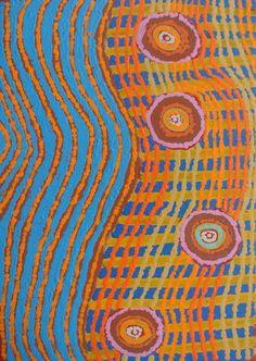 Tanya Nungarrayi Collins / Watiya-warnu Jukurrpa (Seed Dreaming) 46 x 30 cm