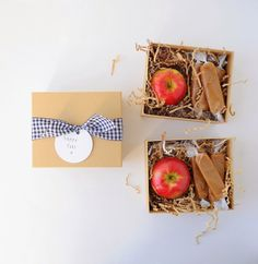 caramel apples in a box