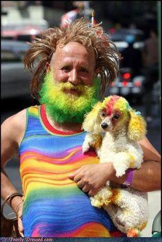 baha! I so want to meet this fella and his pooch