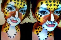 Cheetah Face Painting
