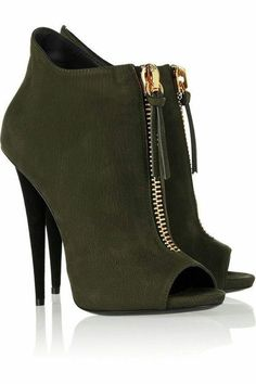 Women Ankle Boots Chunky Heels Round Toe Metallic Rhinestones Zip Casual Shoes