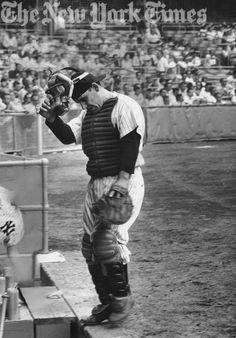 Yogi Berra Heading To The Dugout - 1956