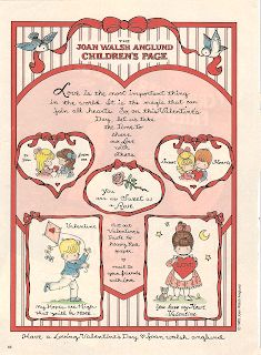 The last two Valentine pages from Joan Walsh Anglund that I have in my collection. Both feature cut out Valentine cards. These are fr. My Funny Valentine, Valentine Theme, Valentine Day Love, Valentines For Kids, Vintage Valentines, Valentine Crafts, Valentine Ideas, Valentine Stuff, Missing Missy
