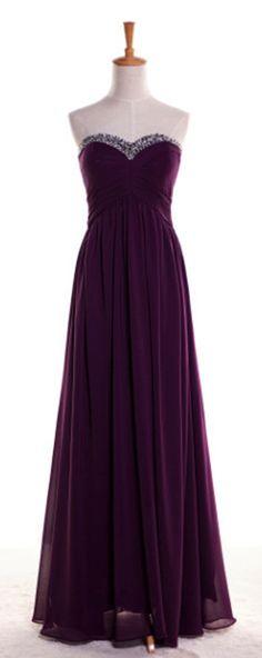 Grape Prom Dress Bridesmaid Dress