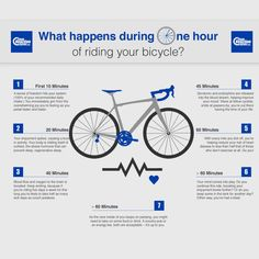 What happens during one hour of riding your bicycle?