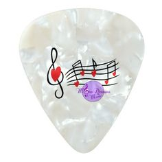 MoonDreams Music & Hearts Pearlized Guitar Pick - 1 Dozen by #MoonDreamsMusic #PearlizedGuitarPick #Music&Hearts #ValentinesDay