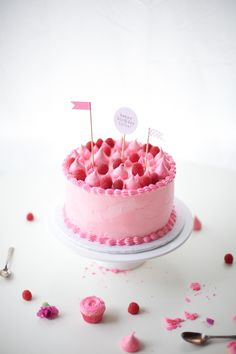 pink party cake - coco cake land