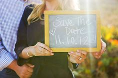Save the Date chalkboard message - Nautical Engagement Session by Maria Glassford Photography