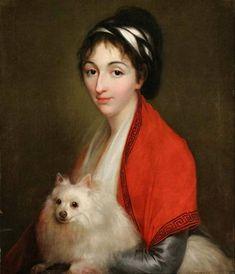Portrait of Izabela Ogińska, née Lasocka, attributed to Louise Élisabeth Vigée Le Brun. Museum of Warsaw. C. 1795-1800.