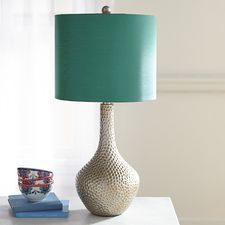 Teal Honeycomb Table Lamp