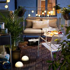 Small garden ideas, outside lighting