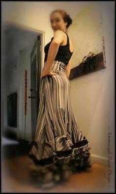 Mermaid cut flamenco ruffled dance skirt  by ScheherazadeBanoo on Etsy, $165.00