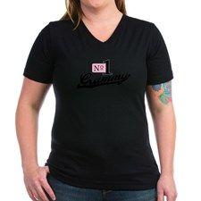 Number One Grammy Women's V-Neck Dark T-Shirt for