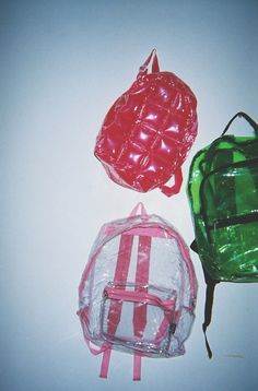 90's Plastic Blow Up Bubble Backpack..