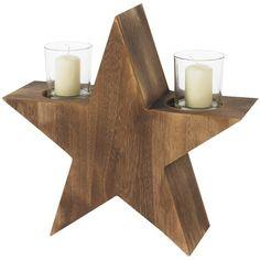 Dieser imposanter Kerzenhalter in Form eines Sterns bringt jeden Wohnraum in ein weihnachtliches und gemütliches Ambiente. Die zwei Kerzengläser runden diesen Kerzenhalter perfekt ab. ♥ ab 24,99 €