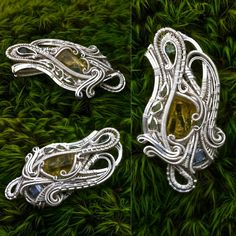 Beautiful Wire Wrap // Great Flow // Crystal Wrap Pendant // Heliodor, Herkimer, Green Garnets // Baller Wrap // Heady // Dank // Epic by Merrick Presentsofmined Noyes