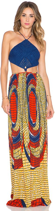 WANT--Crochet Maxi Dress
