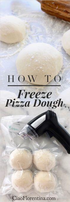 How To Freeze Pizza Dough Step by Step Tutorial | CiaoFlorentina.com @CiaoFlorentina